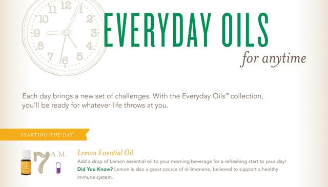Everyday Oils Clock Infographic FB