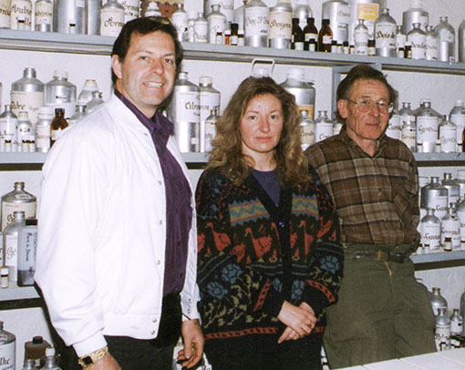 Gary Young with Henri VIaud and his wife