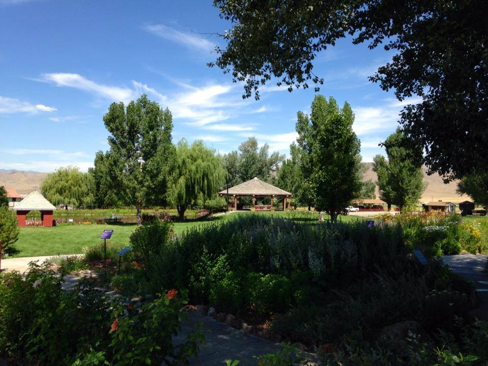 Herb garden at Young Living Lavender Farm in Mona Utah