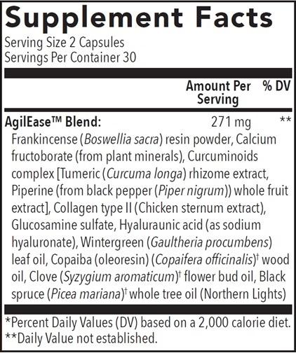 AgilEase Ingredients