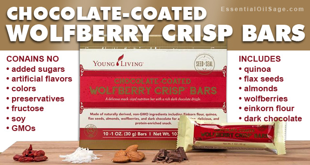 Chocolate-coated Wolfberry Crisp Bars