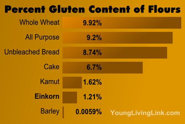 Einkorn Spaghetti Gluten Chart