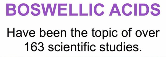 163 scientific studies on boswellic acids