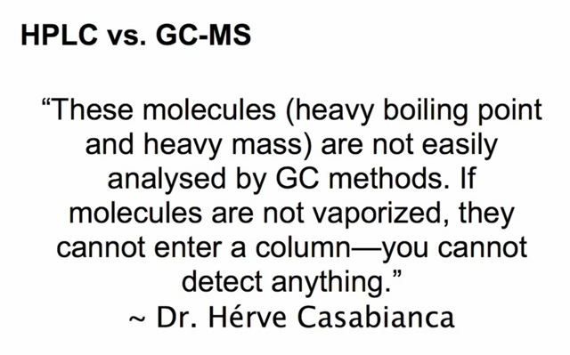 Dr Herve Casabianca on shortcomings of GCMS