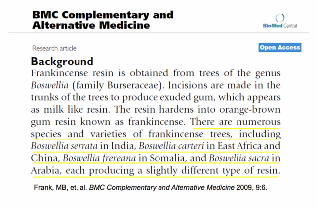 HK Lin study on frankincense