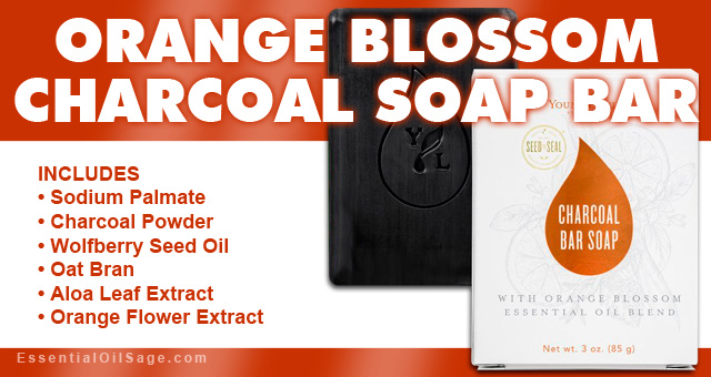 Young Living Orange Blossom Charcoal Bar Soap
