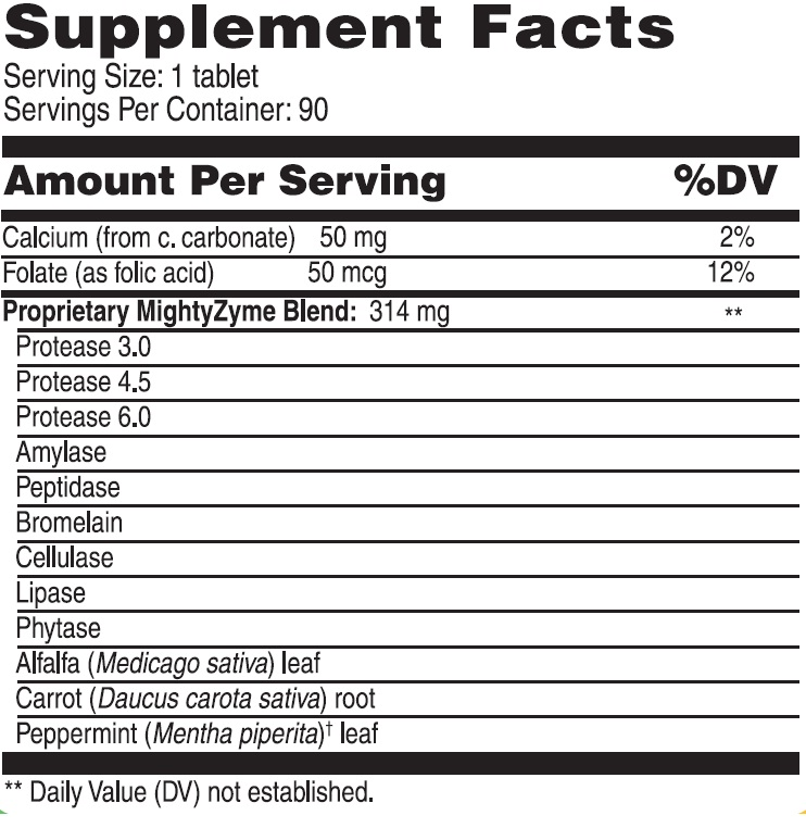 KidScents MightyZyme Supplement Facts