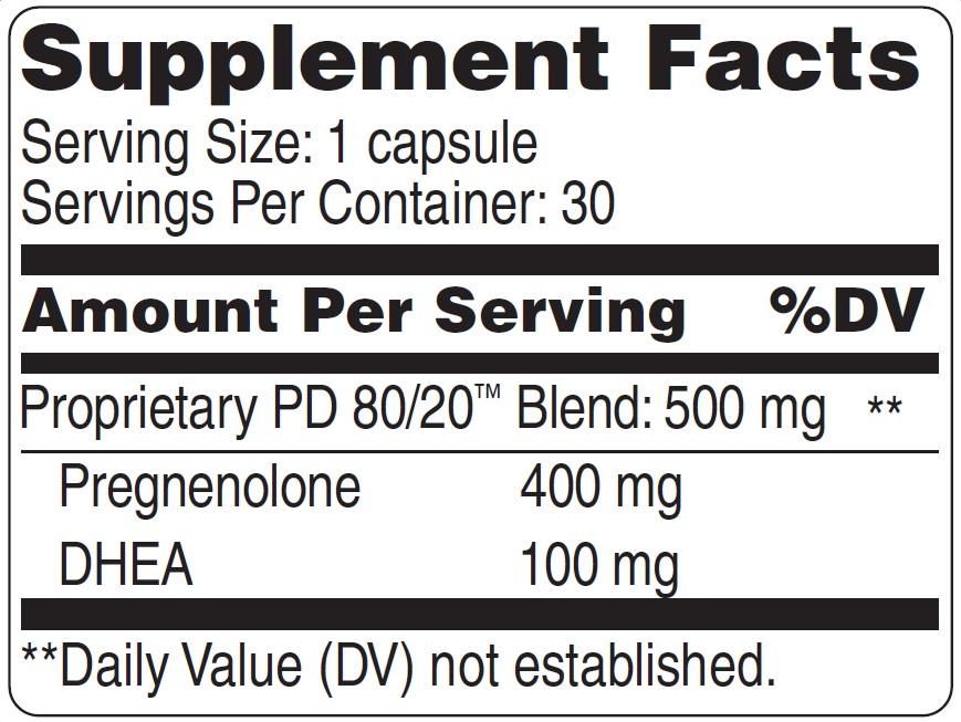 PD 80/20 Supplement Facts