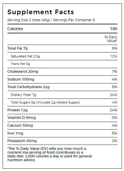 Protein Power Bites Ingredients