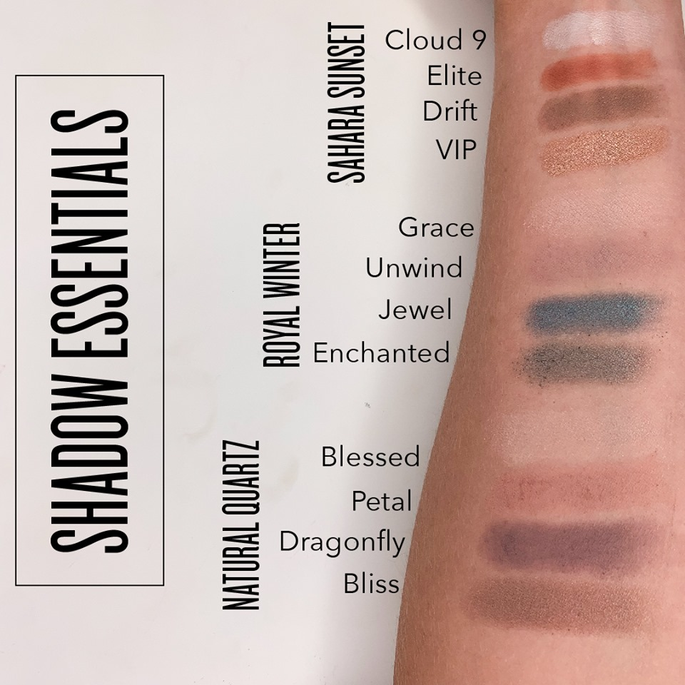 Savvy Minerals Eyeshadow Palette Colors