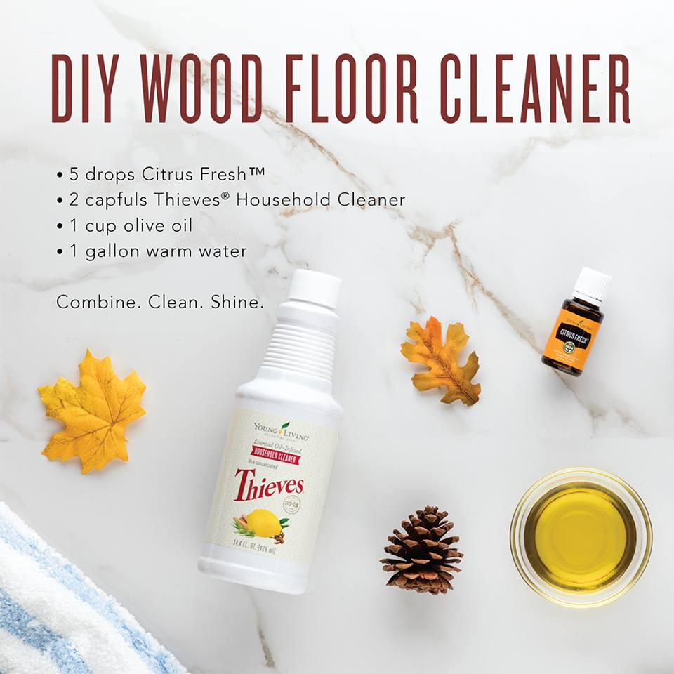Cleaning Fake Wood Floors: Thieves Household Cleaner