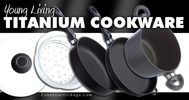 Young Living Titanium Cookware, Frying Pan, Sauce Pan